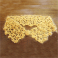 生徒作品 モヘアで編んだ変え襟です。