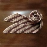 生徒作品斜め編みマフラー