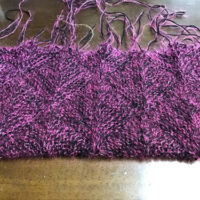 ドミノ編みバッグ