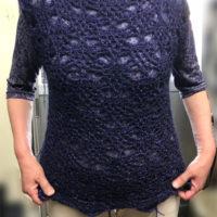 かぎ針編みベスト-生徒作品